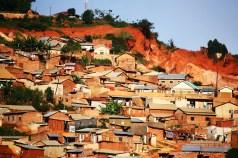 A suburb of Kampala, recently victim to a big landslide