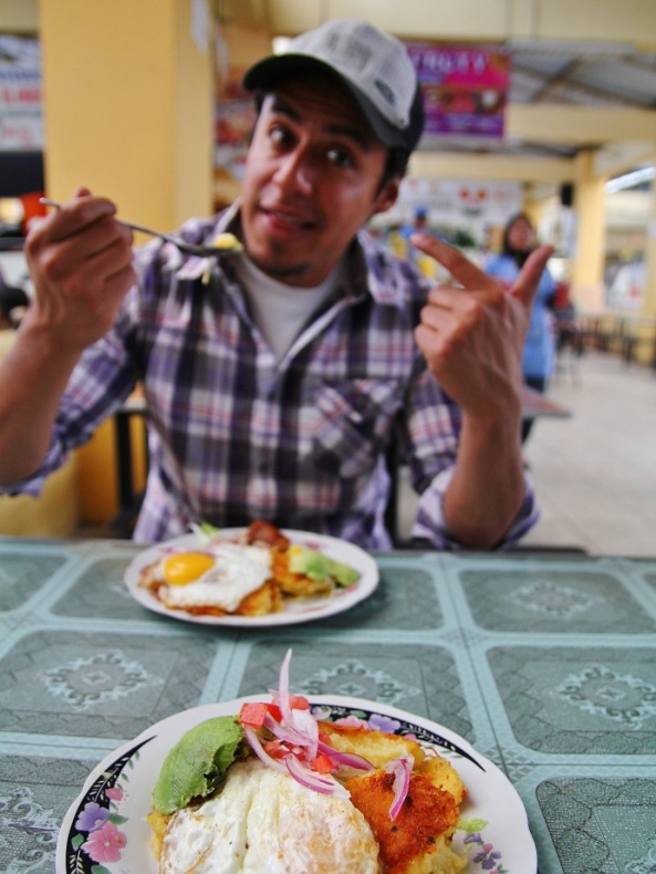 Julio, and some Ecuadorian yummies