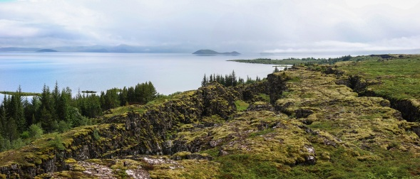 The rift valley of Þingvallavatn, where two continents drift apart
