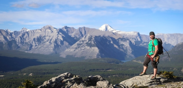 The view from Mt Rundle