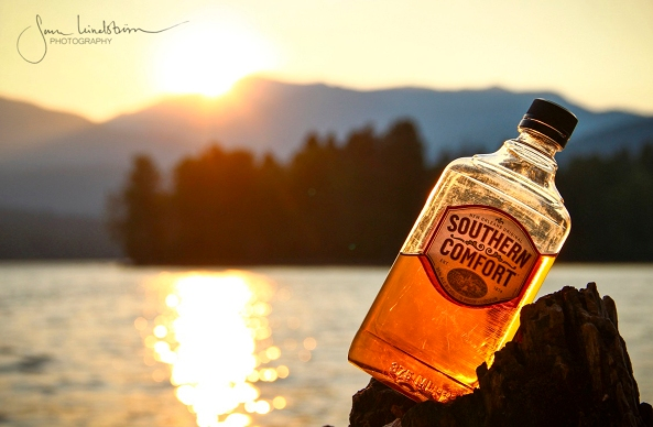 A bottle of rum, a lake and a sunset, SMALL_wm.jpg